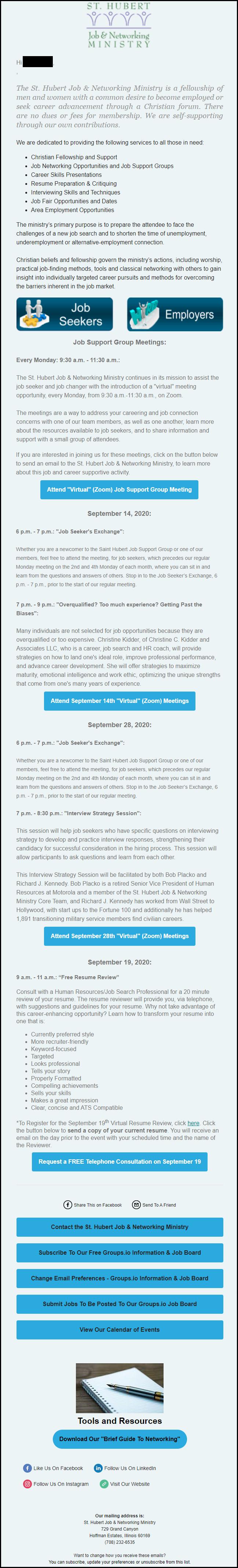 st-hubert-job-ministry-september-2020-events-newsletter