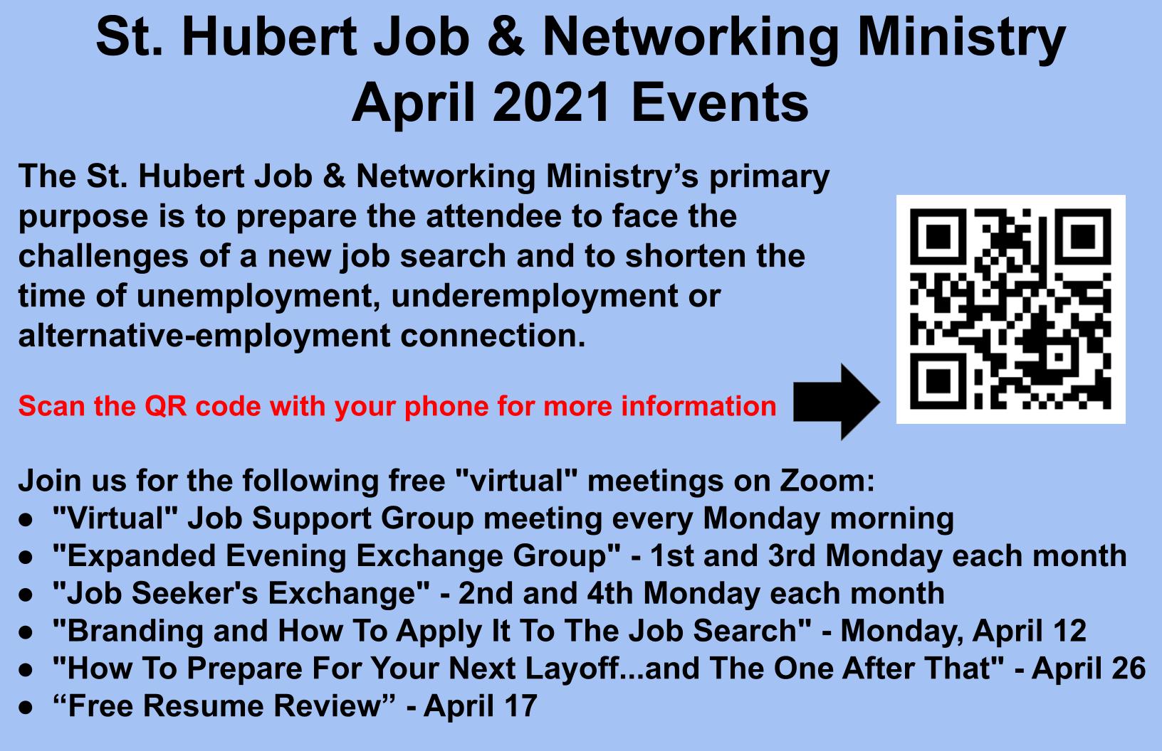 st-hubert-job-networking-ministry-april-2021-events-barrington-library-advertisement