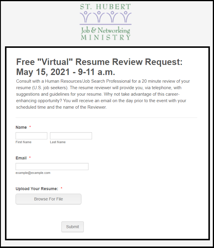 st-hubert-job-networking-ministry-may-2021-resume-review-form